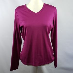 THE NORTH FACE V NECK ATHLETIC SHIRT LONG SLEEVE